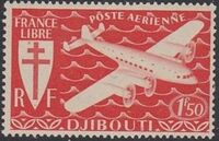 French Somali Coast 1941 Airmail b