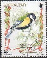 Gibraltar 1994 Christmas - Songbirds a
