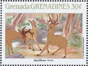 Grenada Grenadines 1988 The Disney Animal Stories in Postage Stamps 1g