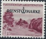 Liechtenstein 1947 Stamps of 1944-1945 overprinted - Official Stamps f