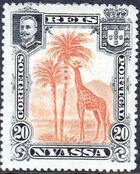 Nyassa Company 1901 D. Carlos I (Giraffe and Camels) e