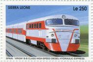 Sierra Leone 1995 Railways of the World 3d