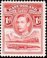 Basutoland 1938 George VI, Crocodile and River Scene b