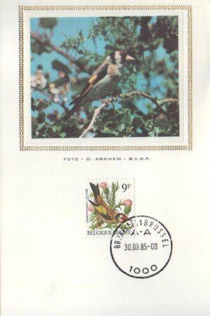 Belgium 1985 Birds MCf