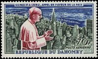 Dahomey 1966 Pope Paul VI and UN General Assembly b