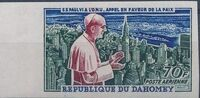 Dahomey 1966 Pope Paul VI and UN General Assembly e