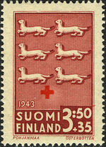 Finland 1943 Coats of Arms - Finnish Red Cross c