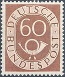 Germany, Federal Republic 1951 Posthorn and Numbers l