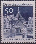 Germany, Federal Republic 1967 Building Structures from Twelve Centuries (2nd Group) e