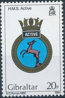 Gibraltar 1984 Royal Navy Crests 3rd Group a