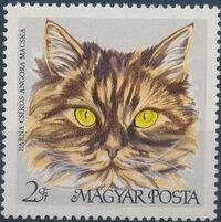 Hungary 1968 Domestic Cats f