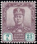 Malaya-Johore 1912 Sultan Sir Ibrahim (1873-1959) h