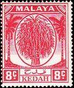 Malaya-Kedah 1950 Definitives f
