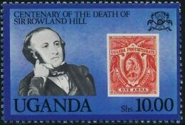 Uganda 1979 Centenary of the death of Sir Rowland Hill d