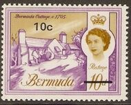 Bermuda 1970 Definitive Issue of 1962 Surcharged h