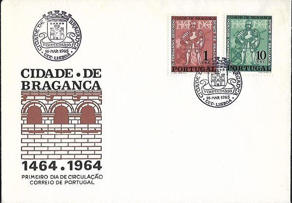 Portugal 1965 500 Years of Bragança City FDCa