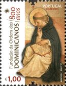 Portugal 2017 800 Years of the Foundation of Dominicans Order a