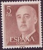 Spain 1955 General Franco n