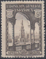 Tangier-Spain 1929 Seville-Barcelona Issue of Spain Overprinted in Blue or Red f