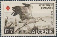 Algeria 1957 Red Cross b