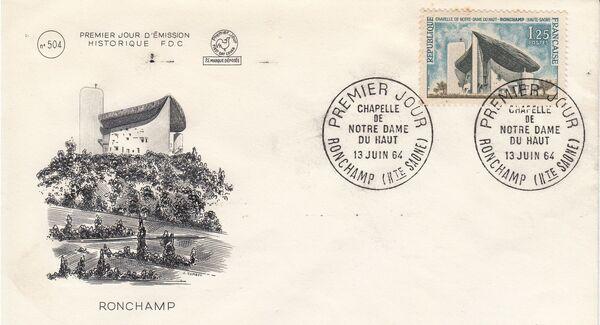 France 1965 Tourism FDCc