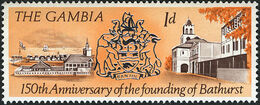 Gambia 1966 150th Anniversary of the Founding of Bathurst a