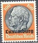 German Occupation-Luxembourg 1940 Stamps of Germany (1933-1936) Overprinted in Black p