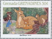 Grenada Grenadines 1988 The Disney Animal Stories in Postage Stamps 1a