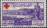 Lebanon 1947 Surtax for the Red Cross d