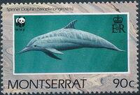 Montserrat 1990 WWF Dolphins a
