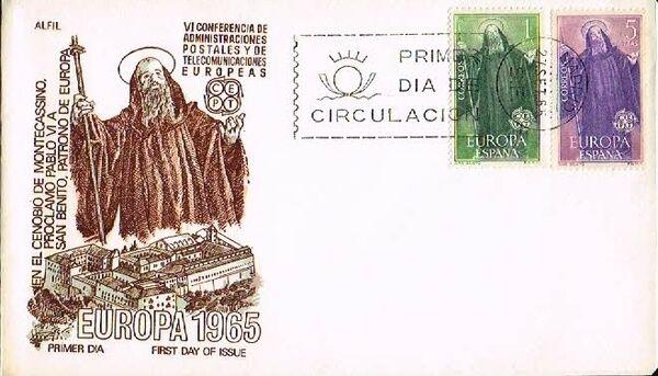 Spain 1965 Europa FDCd