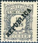 St Thomas and Prince 1913 Postage Due Stamps - 2nd Overprint b