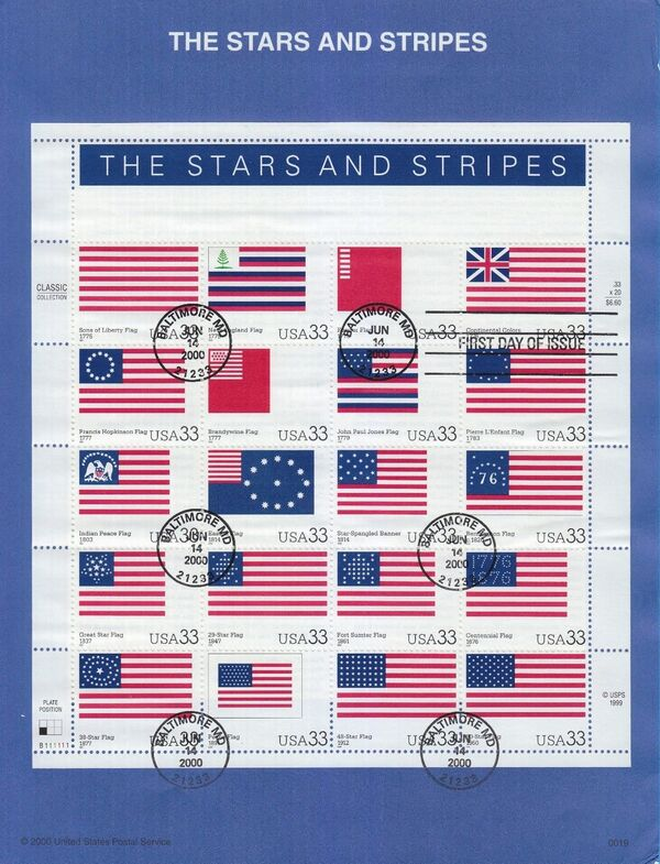 United States of America 2000 The Stars and Stripes IOPa