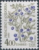 Andorra-French 1985 Flowers (Postage Due Stamps) i