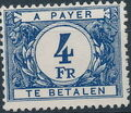 Belgium 1953 Postage Due Stamps (Digit on White Background) c