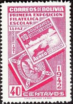 Bolivia 1942 First Students' Philatelic Exhibition d