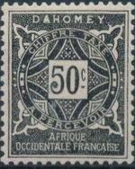 Dahomey 1914 Numerals f