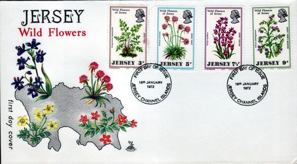 Jersey 1972 Jersey Wild Flowers e