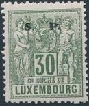 Luxembourg 1882 Industry and Commerce Overprinted j