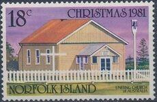 Norfolk Island 1981 Christmas (Churches) a