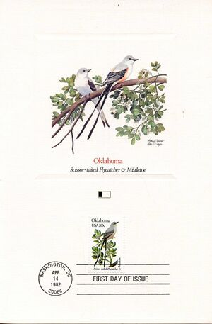 United States of America 1982 State birds and flowers FOLd9
