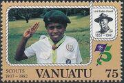 Vanuatu 1982 75th Anniversary of Boy Scout Movement e