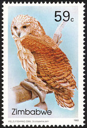 Zimbabwe 1993 Native Owls 2nd Issue b