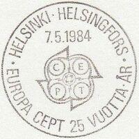 Finland 1984 EUROPA PSMa
