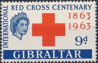 Gibraltar 1963 100th Anniversary of the International Red Cross b