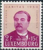 Luxembourg 1950 Jean Antoine Zinnen b