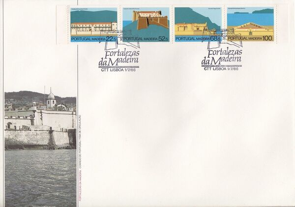 Madeira 1986 Forts in Funchal and Machico f