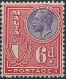 Malta 1926 King George V and Coat of Arms j