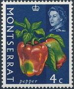 Montserrat 1965 Fruit & Vegetables and Portrait of Queen Elizabeth II d