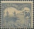 New Caledonia 1906 Men Poling (Postage due Stamps) f.jpg